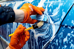 Detailed car wash. Detailed vehicle cleaning to washing Stock Photo