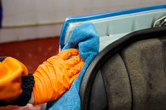 Detailed car wash. Detailed vehicle cleaning to washing Royalty Free Stock Photo