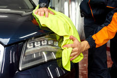 Detailed car wash. Detailed vehicle cleaning to washing Royalty Free Stock Photos