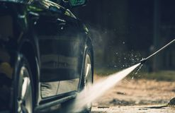 Detailed Car Washing Stock Photography