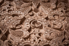 Detailed Carving at the Medersa Royalty Free Stock Photos