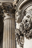Detailed Carvings on the Exterior of St. Pauls Cathedral in Lond Stock Photos