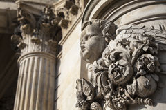 Detailed Carvings on the Exterior of St. Pauls Cathedral in Lond Royalty Free Stock Photo