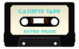 Detailed Cassette Tape Vector Royalty Free Stock Images