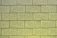 Detailed ceramic brick tile wall background and texture Royalty Free Stock Images