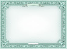 Detailed certificate Stock Photo