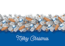 Detailed Christmas Decorations Card Royalty Free Stock Images