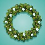 Detailed Christmas Wreath Card Stock Photography