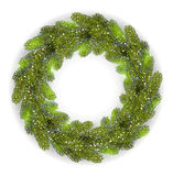 Detailed Christmas Wreath Royalty Free Stock Images