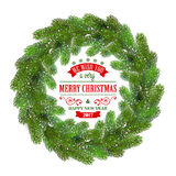 Detailed Christmas Wreath Stock Images