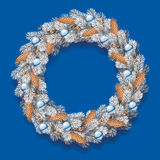 Detailed Christmas Wreath Royalty Free Stock Image