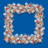 Detailed Christmas Wreath Royalty Free Stock Photography
