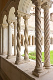 Detailed cloister poles Royalty Free Stock Image