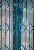 Detail of blue shutter. Detailed close up of blue shutter Royalty Free Stock Photo