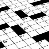 Detailed close up of crossword puzzle. Close up of crossword puzzle as detail ready for solving Royalty Free Stock Image