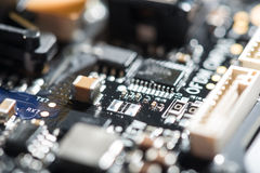 Detailed close up of drones chip. See how it works. Detailed close up of important drones chip royalty free stock images