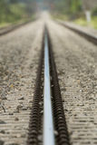 Detailed close up photo of a railroad track Royalty Free Stock Images
