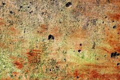 Detailed close up surface of cracked and weathered concrete walls in high resolution stock image