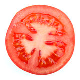 A detailed close-up of a Tomato slice Stock Image