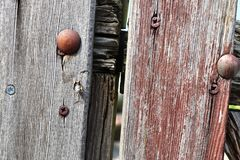 Detailed close up view on different wood surfaces showing planks logs and wooden walls in high resolution. Found in germany stock photo