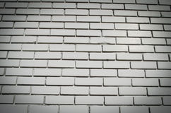 White brick wall. Detailed close up of a white brick wall Royalty Free Stock Photo