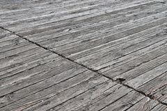 Detailed close up on wooden planks and weathered wood textures. Found in northern europe stock image