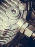 Detailed closeup of alternator generator machine engine Stock Photo