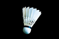 Detailed closeup of a badminton shuttlecock Stock Photo