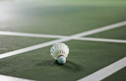 Detailed closeup of a badminton shuttlecock Stock Images