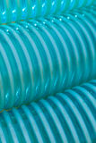 Detailed closeup of flexible plastic hose Stock Photography