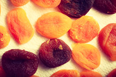 Detailed closeup of orange dried apricots Royalty Free Stock Image