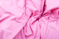 Detailed closeup of pink quilt bedding Stock Photo
