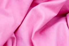 Detailed closeup of pink quilt bedding Stock Photography