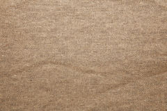 Detailed Closeup vintage old textured fabric burlap Stock Image