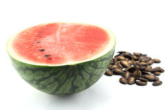Detailed closeup of watermelon, seed Stock Photo