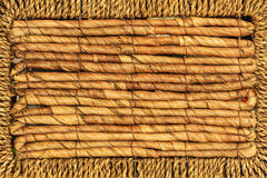 Detailed closeup of wicker texture pattern Royalty Free Stock Photography