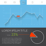 Detailed colorful infographic elements for web and Royalty Free Stock Image