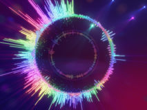 A detailed colorful multicolored equalizer in a circle. Audio spectrum Stock Photography