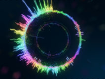 A detailed colorful multicolored equalizer in a circle. Audio spectrum Royalty Free Stock Image