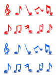 Detailed Colorful musical notes vector. High quality detailed vector but you can easily change the color at any time Royalty Free Stock Photography