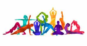 Free Detailed Colorful Silhouette Yoga Illustration. Fitness Concept. Gymnastics. AerobicsSport Stock Photos - 115520453