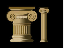 Detailed column. Of a greek temple Royalty Free Stock Photography