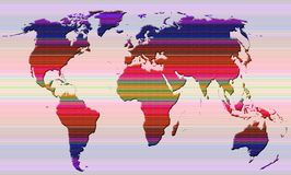 Global world map royalty free stock photography