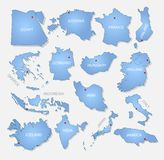 Detailed countries collection. A detailed collection of countries Royalty Free Stock Photo