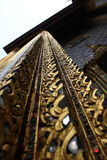Detailed craftmanship. Hand carved architecture at wat phra kaeo thainland royalty free stock photos