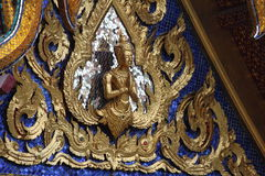 Detailed craftmanship. Hand carved architecture at wat phra kaeo thainland Stock Photography
