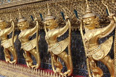 Detailed craftmanship. Hand carved architecture at wat phra kaeo thainland stock photos