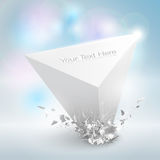 Detailed crushed abstract shape. Vector EPS 10 Illustration stock illustration