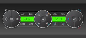Detailed digital air condition control panel Royalty Free Stock Image