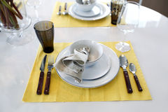 Detailed of dinning table Stock Images